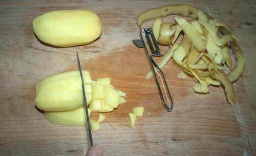 12 - Kartofel schälen und würfeln