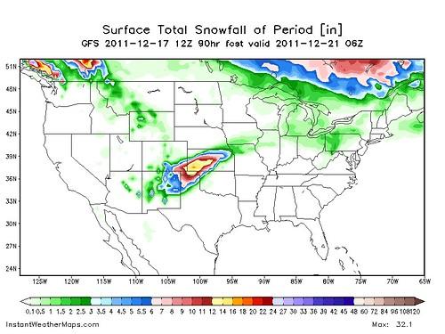 NAM Model - Snowfall Forecast