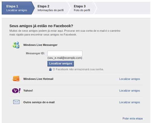 Criar Facebook