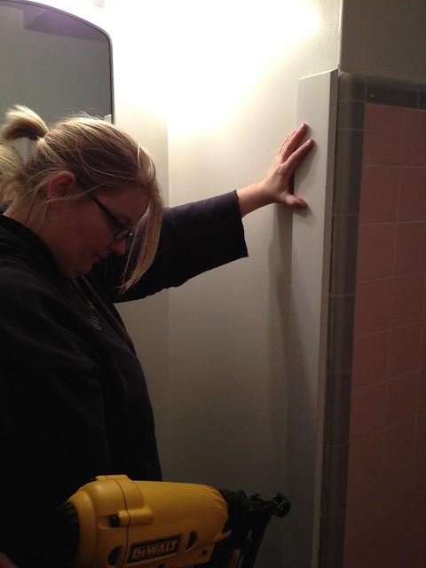 Basement plumbing repairs home hinges home improvement for Trisha bathroom videos photos