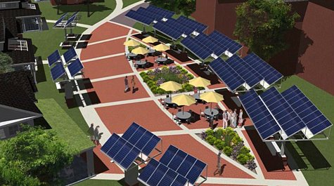 planned solar garden in W&M's new eco-village (by: College of William & Mary)