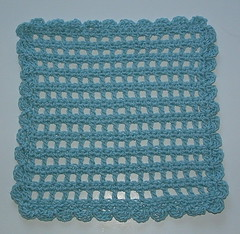 Many Scalloped Boxes Dishcloth