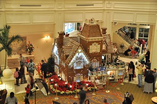 Life-Sized Gingerbread House at Grand Floridan, Disney World