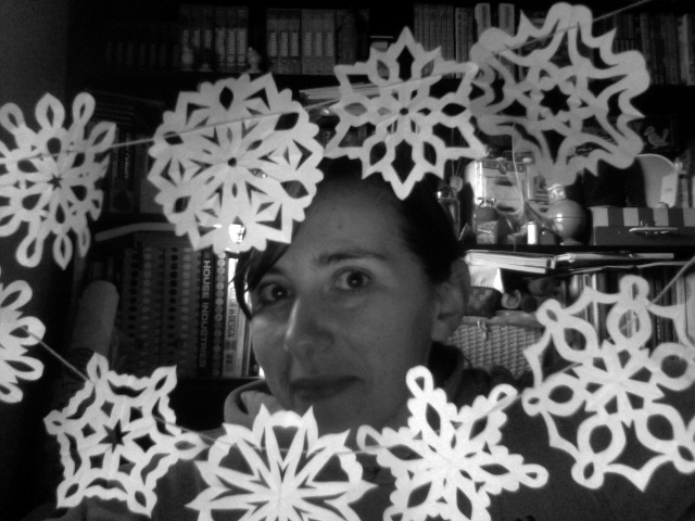 playing with the snowflakes