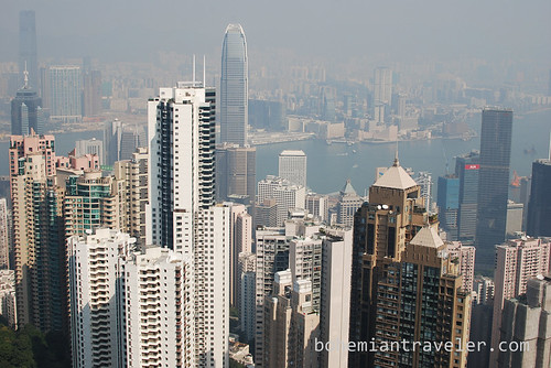 view of Hong Kong skyline from The Peak