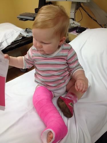 Hadley's GIANT pink leg