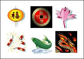 free Eastern Dragon slot game symbols