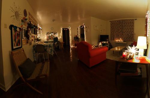 Holiday Apartment Panorama at Night
