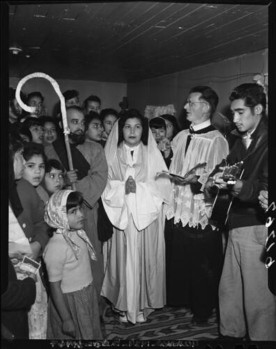 Olvera Street posadas, 1949