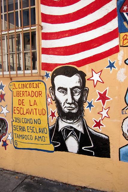 Miami - Little Havana: Arte de las Americas Mural - Abraham Lincoln