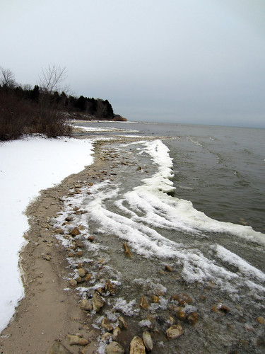 frozen shoreline, Lake MI, Kewaunee Co
