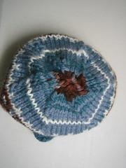 Colorwork scrap hat (top)