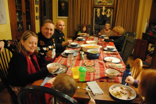 Our fourth Christmas dinner!
