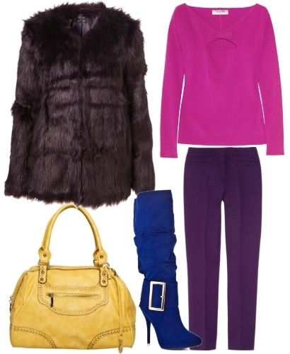 colorful outfit for winter