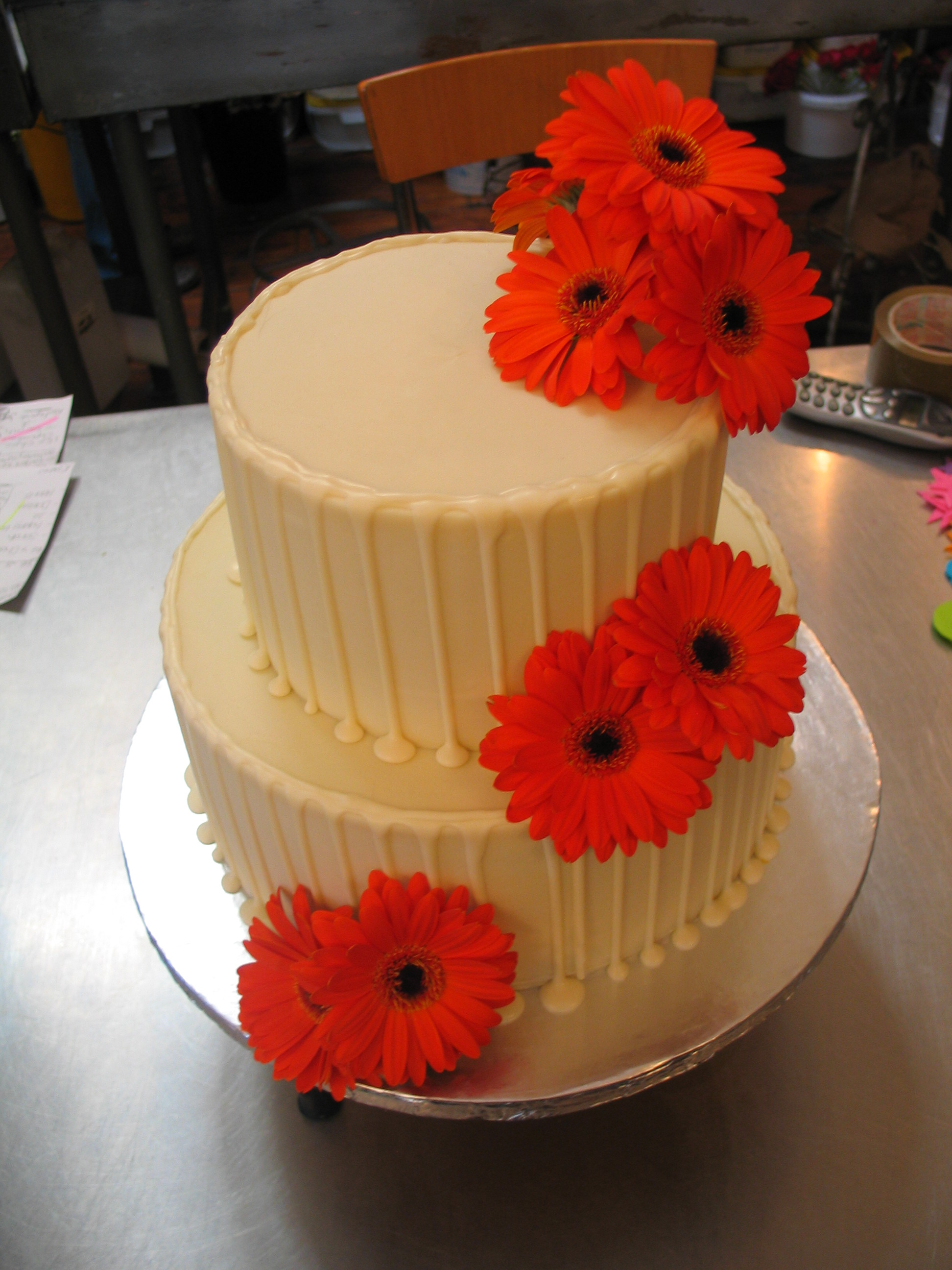 Gallery For Simple White 2 Tier Wedding Cake