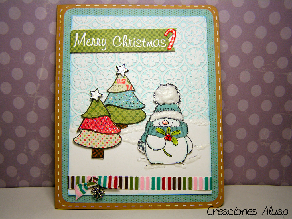 Tarjeta navidad jolly friends chritsmas card jolly - Manualidades postales navidad ...