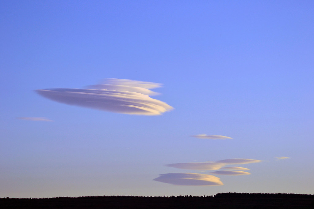 Strange cloud formations