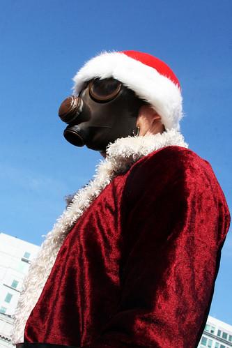 Gasmask Santa