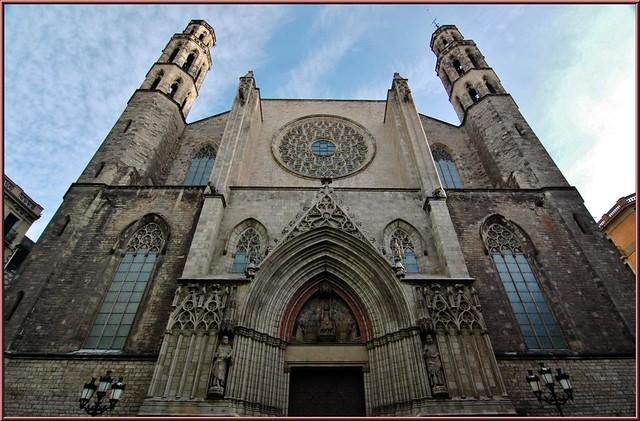 Flickriver: Photoset 2750 Basílica de Santa María del Mar,Barcelona,Cata...
