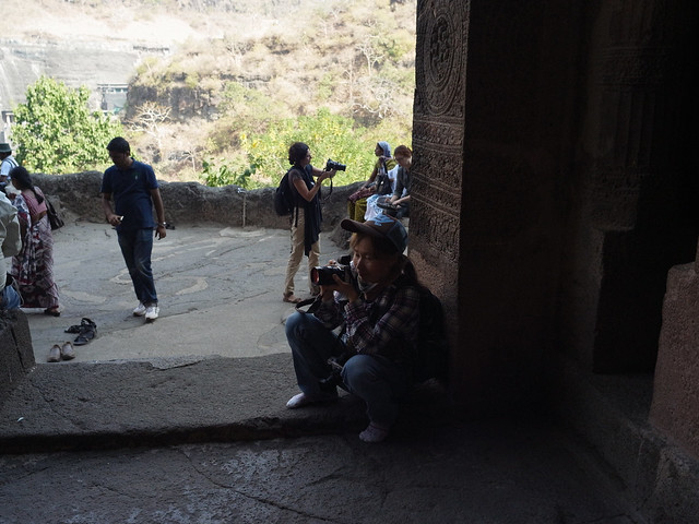 Photographing in Ajanta, Dec 2011. GXR548
