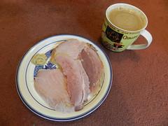Ham & triple espresso