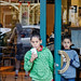 My Nephews Garrett and Zach in a Pleasanton Taqueria