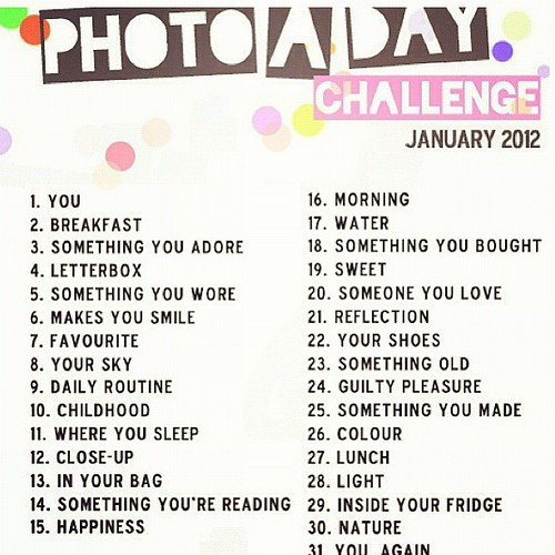 I'm playing along! Wanna join me? #janphotoaday