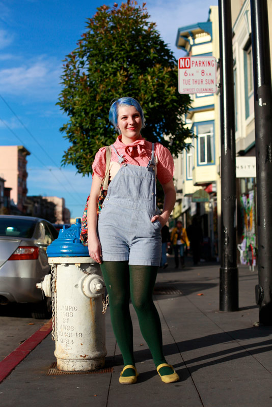 bluehair - san francisco street fashion style