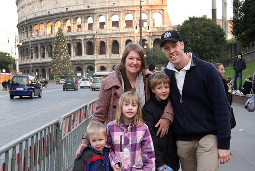 New Year in Rome - Family at Coliseum