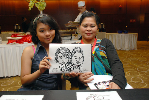 Caricature live sketching for SCORE – Yellow Ribbon Celebrating 2nd Chances 2011 - 12