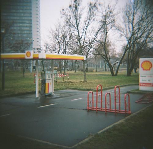 Fake gas station