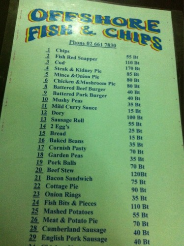 Offshore Fish & Chips Menu