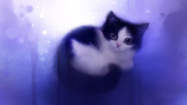рисунок с котенком