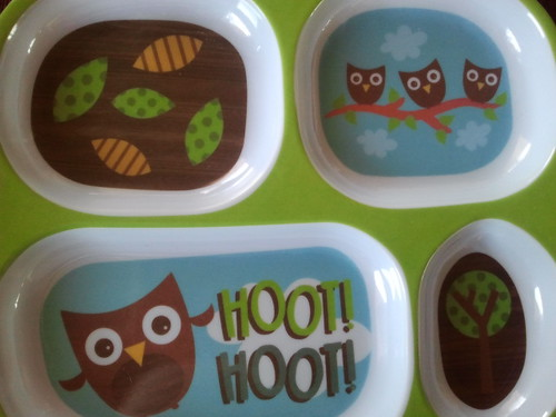 Muffin Tin Monday owl plate