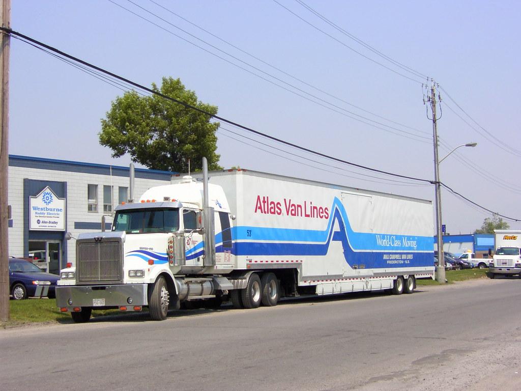 Atlas van lines amj campbell western star truck and 53 foot kentucky drop bottom trailer