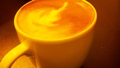 latte at Pistacia Vera