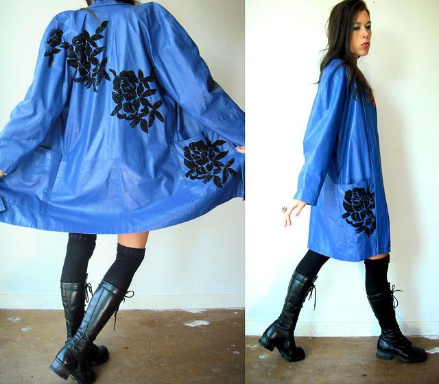 cobalt blue leather coat2