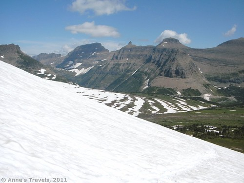 Logan's Pass and Pollock Peak from the Reynolds Mountain Trail, Glacier National Park, Montana
