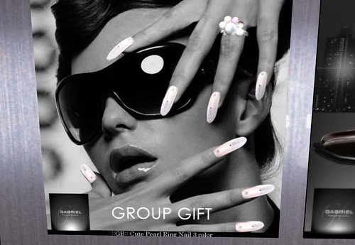 Gabriel - Cute Pearl Ring Nail 3color (Group Gift) by Cherokeeh Asteria