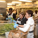 From right: Lennetta Elias, Office of the Chief Financial Officer, Louise Fox, Departmental Management, and Kim Chapman, Office of the Chief Financial Officer help prepare the evening meal at the D.C. Central Kitchen