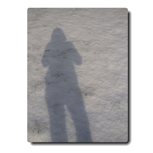 14/365+1 Walk in The Snow #shadow #silhouette