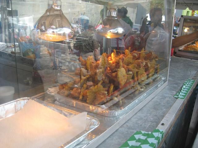Pork Pinchos with Tostones