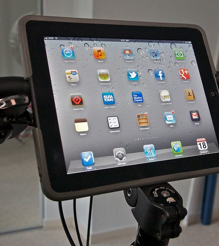Close Up of iPad on Bike
