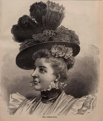 005- Sombrero Aurora-La Última moda-revista ilustrada hispano-americana, del 20 de junio de 1897-copyright MemoriadeMadrid