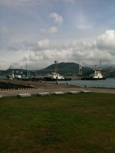 港なので風が気持ちいい