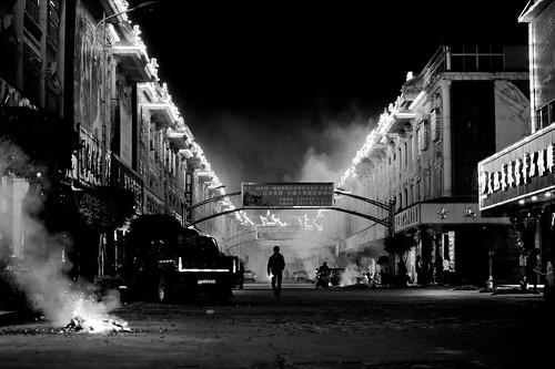 無料写真素材, 建築物・町並み, 都市・街, 街角, 風景  中華人民共和国, モノクロ