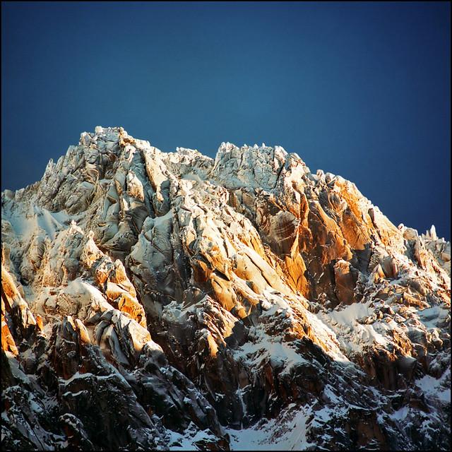 Snow covered Alpine peaks