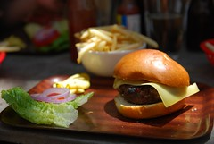 Wagyu Burger with Gruyere cheers, small fries - Tr…