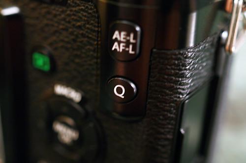 FUJIFILM X-Pro1 Q button