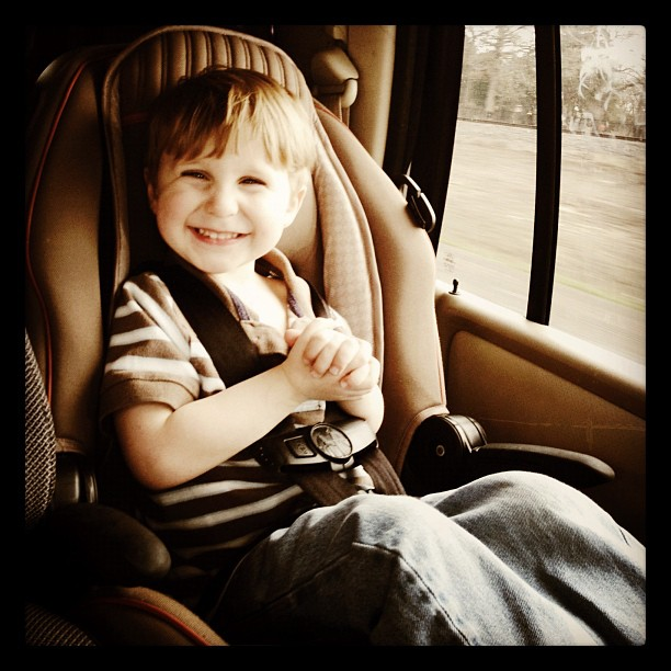 Happy Little Fart #instagood #instagram #iphone4 #all_shots #janphotoaday #happy #smile #toddler #kid #boy #carseat #giggle #laugh